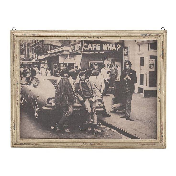 ΠΙΝΑΚΑΣ ΞΥΛΙΝΟΣ 'CAFE WHA?' 84X3X63