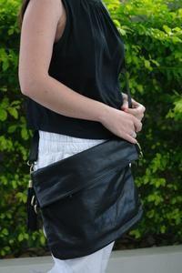 Jacs Cross Body Satchel - Large - St. Moritz Design - Summer Shoes, Handbags, Slides and Accessories. Flat Leather Slides