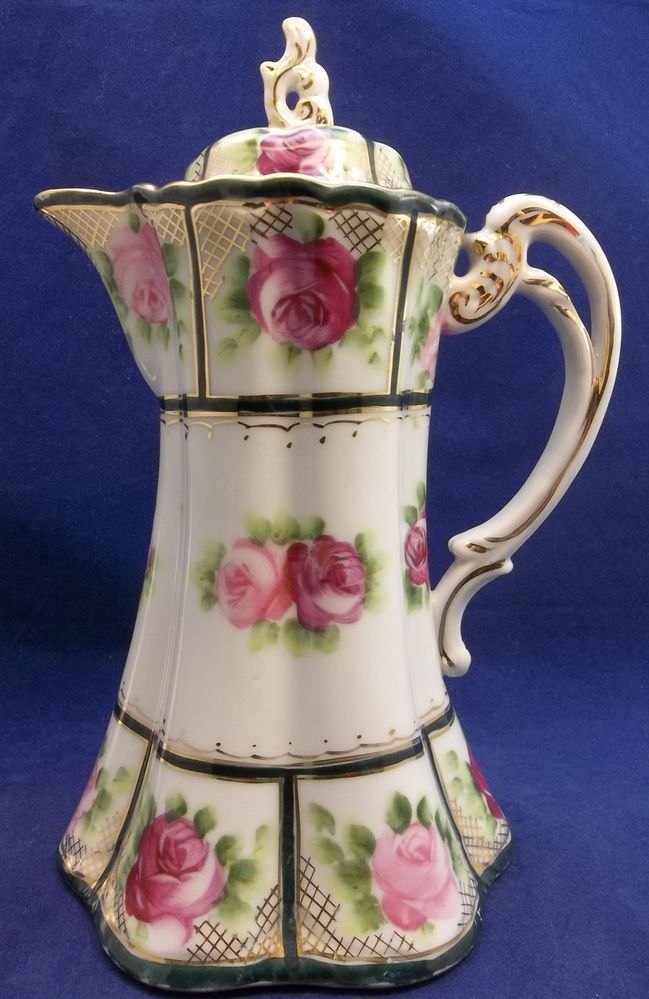 17 Best Images About Cocoa Pots Ii Antique On Pinterest Pink Roses Hand Painted And Coffee