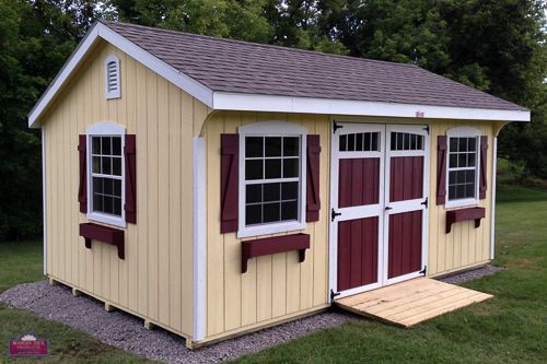 24 best hip roof design images on pinterest bungalows for Garden office and storage shed