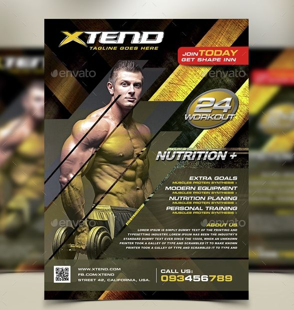 Free Fitness Gym Flyer Template Psd Files And Free Church: 57 Best Flyer Designs Images On Pinterest