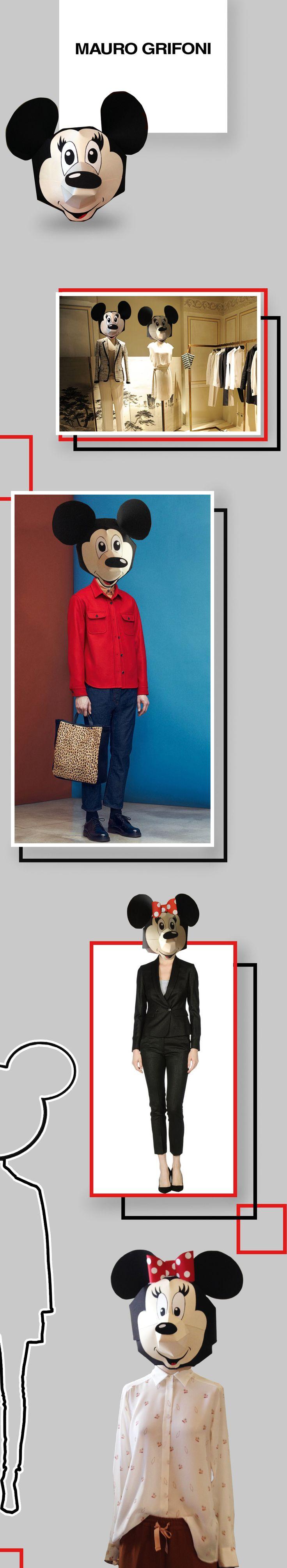 Бумажные головы для манекенов магазина итальянской одежды Mauro Grifoni