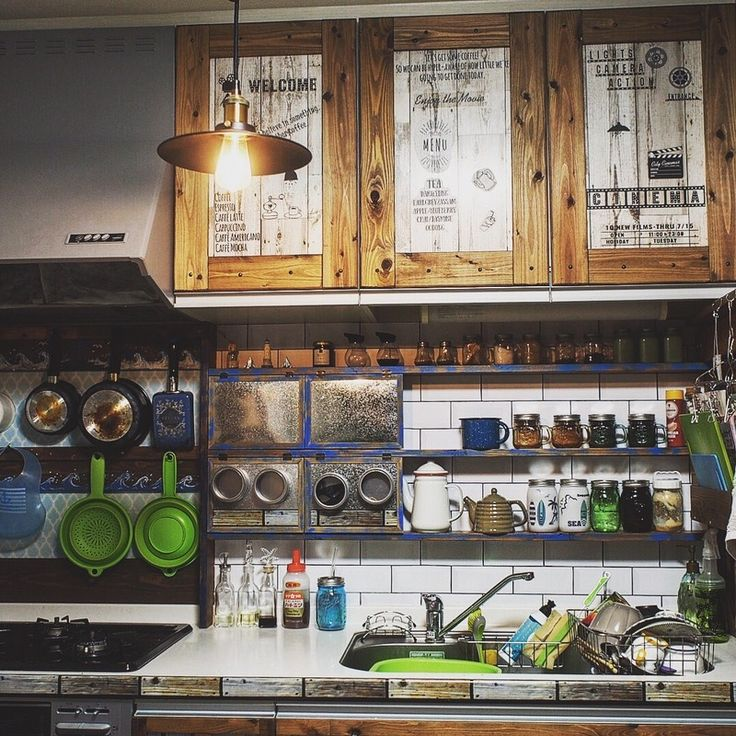 ★キッチンまわりをカフェ風に簡単DIY★キッチンシェルフ・ブックラック編★|LIMIA (リミア)