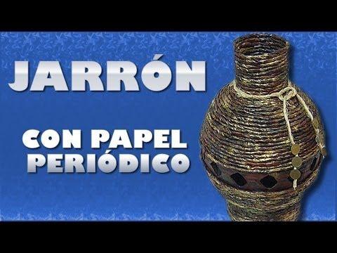 Jarron con Cartón y Bidón | Aprender manualidades es facilisimo.com