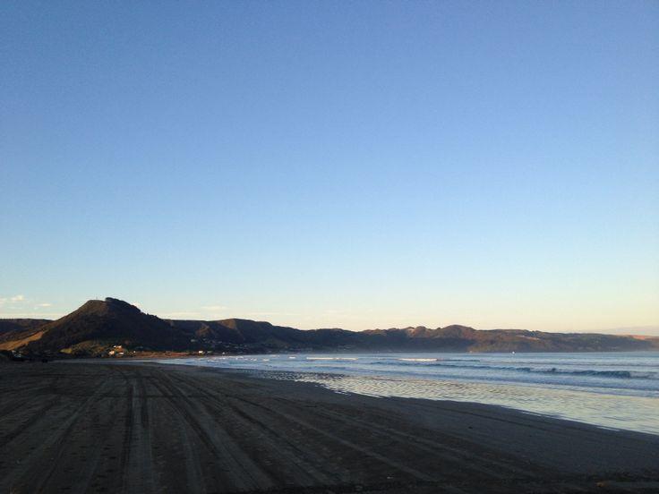 Morning fishing at Ahipara, New Zealand