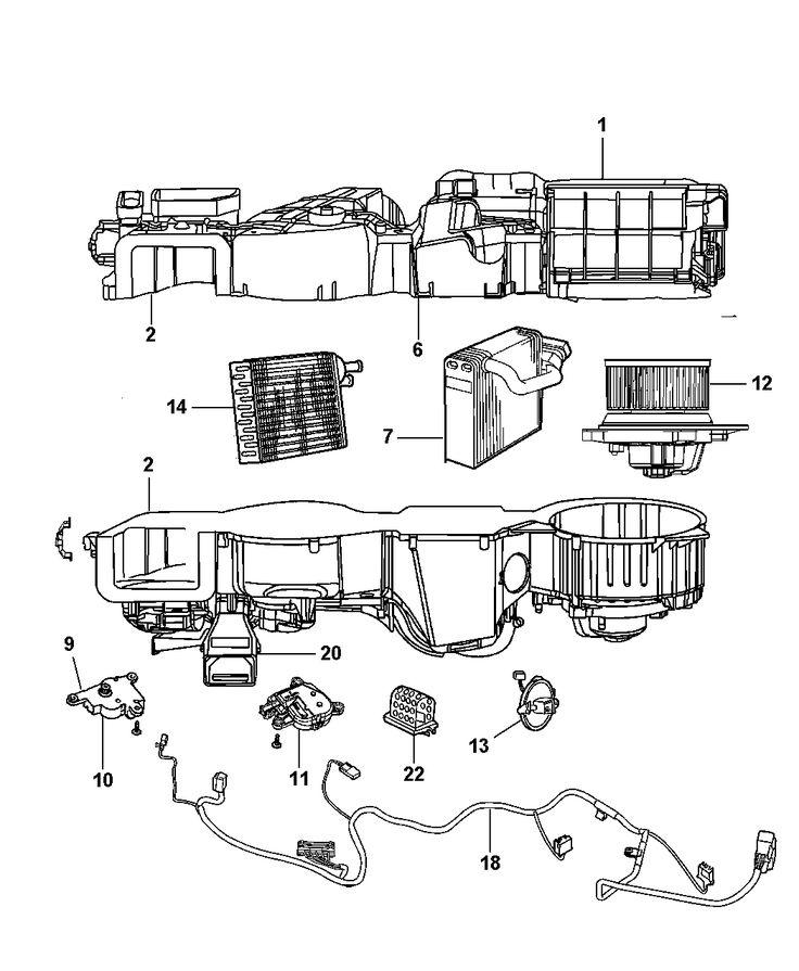 2002 Dodge Stratus Sedan Air Conditioning  U0026 Heater Unit