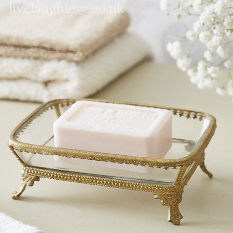 Antiqued Brass Trinket/Soap Dish