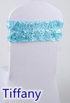 Галстук-бабочка, Тиффани синий цвет для роскошные свадьбы, Подходят для всех стулья, Розетка атласной ткани стул створки лайкра створки стрейч створки