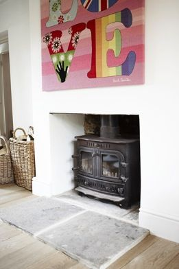 Log burner and fireplace to die for!