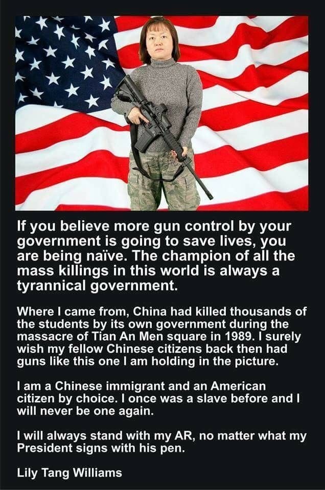Any government that disarms its citizens has a bigger agenda planned. The destruction of the Constitution as planned by the the socialists or globalists is top on the list.