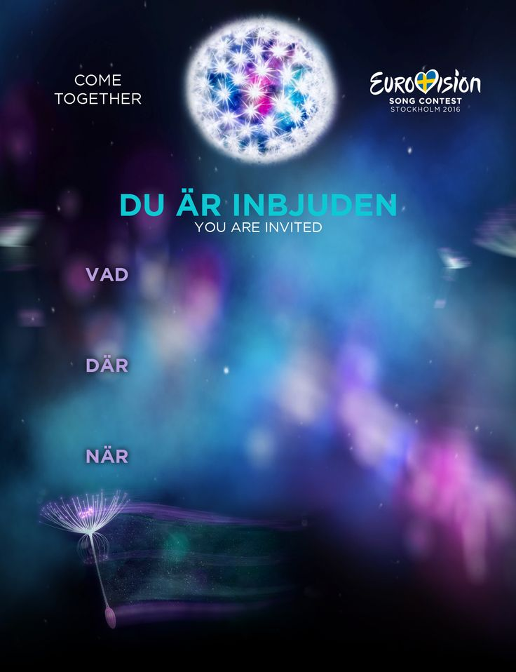 Eurovision Party 2016 :: Stockholm Sweden :: Invitation Template