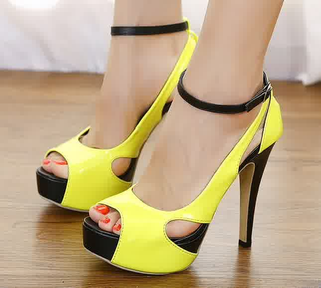 yellow shoes for wedding newest