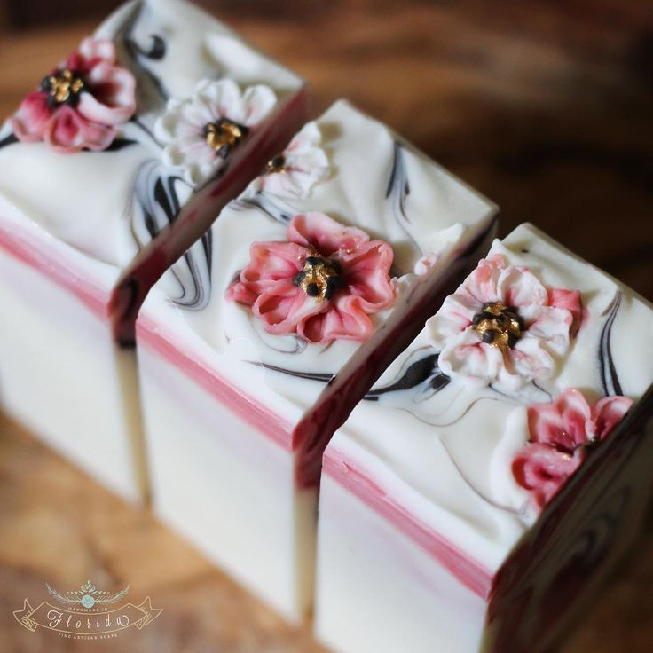 Cherry Blossom CP soap by @handmadeinflorida