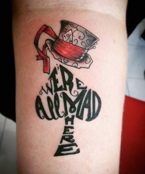 Alice In Wonderland Quote Tattoos: Best 25+ Wonderland Tattoo Ideas On Pinterest