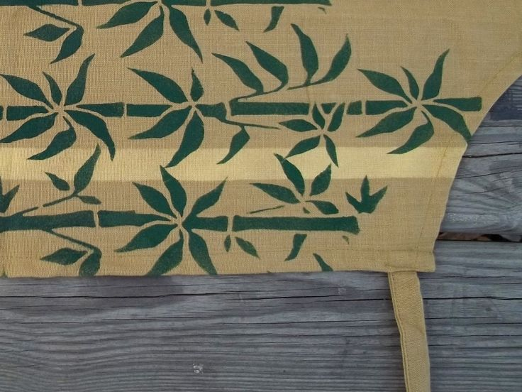 Bamboo Apron w/ Custom Print !