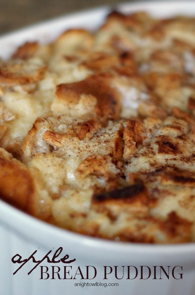 Apple Bread Pudding | Amazing dessert recipe for the fall.
