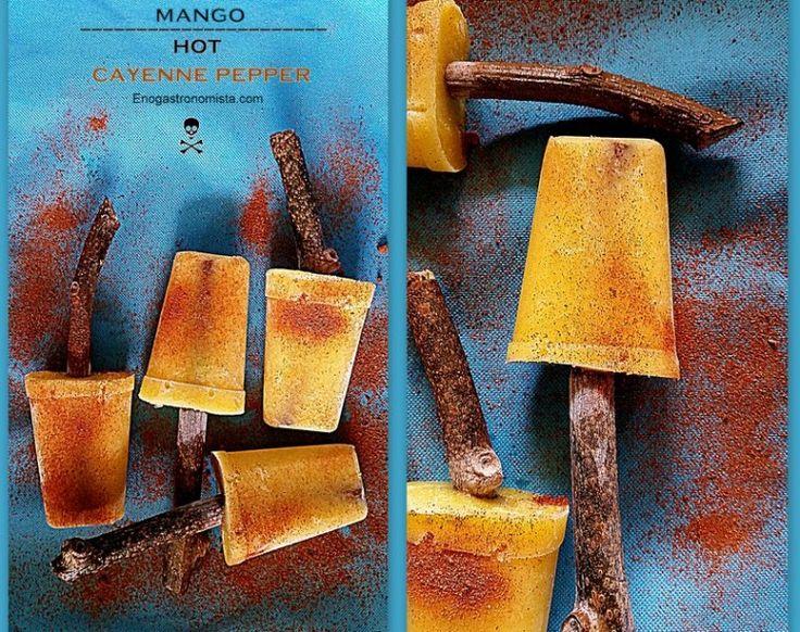 Hot Mango Cayenne popsicle