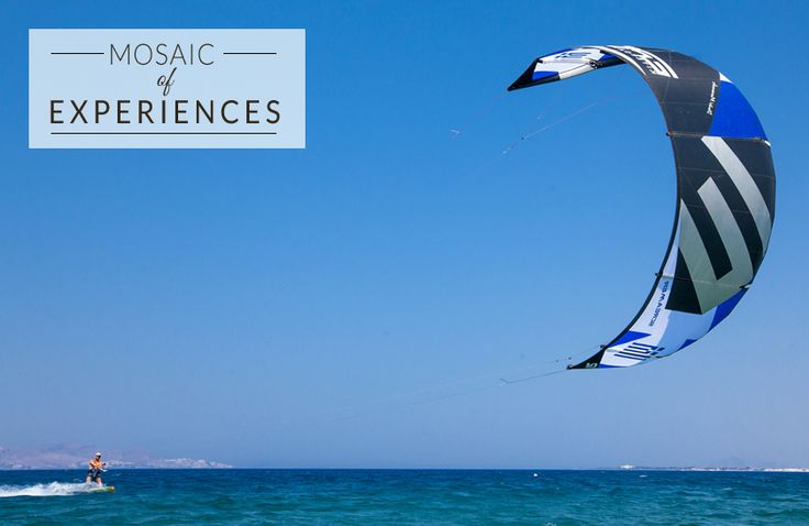 Ride the waves and the wind this summer to experience a thrill like never before! Have you tried Kitesurfing? #KipriotisHotels #watersports #LoveSports #Fun #MosaicOfExperiences #sea #aegean #island #Greece  ‬ http://bit.ly/21jhWb7