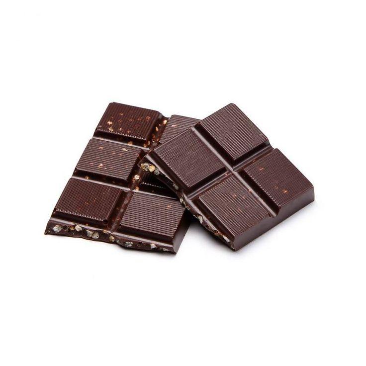 Petite barre de chocolat noir et quinoa soufflé caramélisé de 35 g 3.99 $