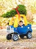 toddler christmas photography - Google Search @Megan Autry this is cute lol we can put a tree on her car haha