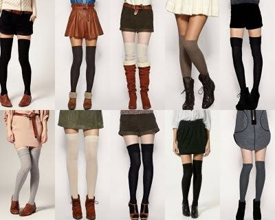 Used to wear thigh high socks all the time (still have some). Happy they're making a comeback.