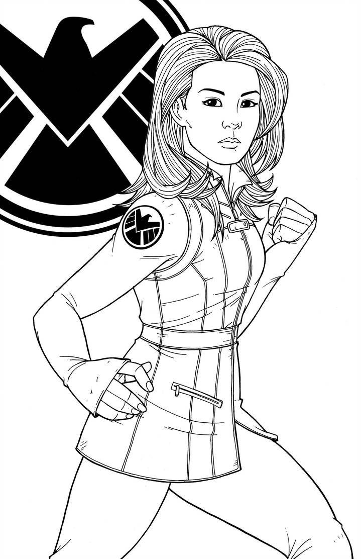 Agent Melinda May By Jamiefayx Marvel Coloring Marvel Drawings Coloring Books