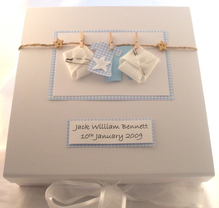 Keepsake Boxes - perfect for the new baby in the family!