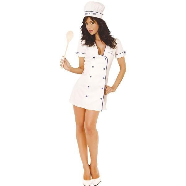 シェフ 帽子 ハロウィン  コスプレ 衣装、セクシーシェフ、大人用コスチューム。前ボタンでブルーのアクセントがセクシーなミニドレス、シェフハット、木製スプーンが含まれています。靴は含まれていません。本商品は、ハロウィン 衣装の本格的なアクセサリーとして、コスプレを楽しむ衣装、変身・仮装用衣装のアクセサリー(帽子,ハット,hat)として、舞台やステージ衣装として、ダンス・ピアノなどの各種発表会衣装のアクセサリーとして、各種パーティーやイベントの衣装を彩るアクセサリー(帽子,ハット,hat)として、また各種行事やお遊戯会衣装として、そして、衣装、コスチューム、グッズをファッションや趣味として楽しむすべての方にお薦めの商品です。Chef Adult Costume*サイズのプルダウンメニューに詳細な記載がないサイズはサイズ表をご覧下さい。*モバイル・スマートフォンで閲覧のお客様はPC版よりサイズ表をご確認頂けます。*プルダウンメニューにないサイズはご注文できません。【セール】【バーゲン】セール ボーナス