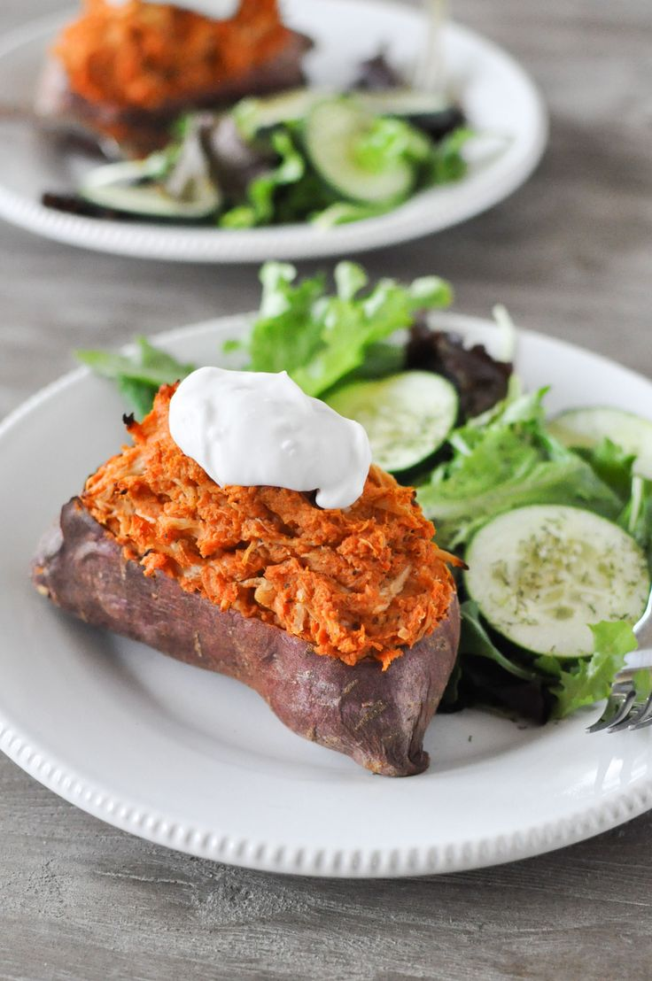 Loaded Twice Baked Sweet Potatoes | Fed+Fit