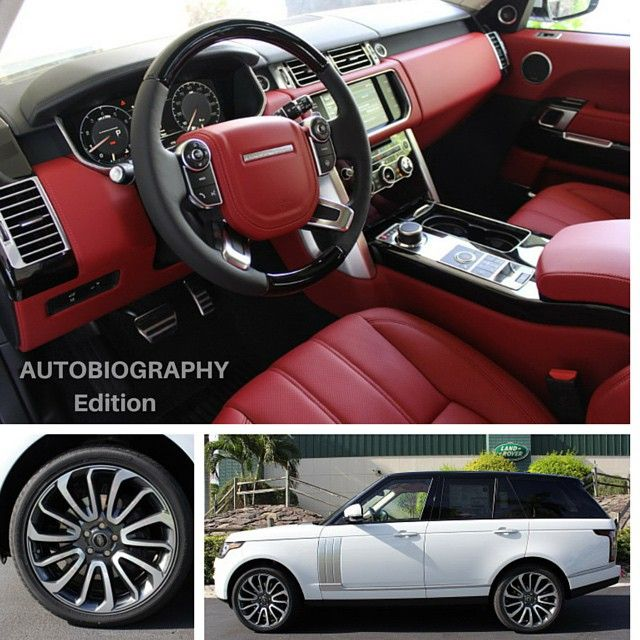 Range Rover Autobiography Edition W Pimento Red Interior Landroverpalmbeach Cars White