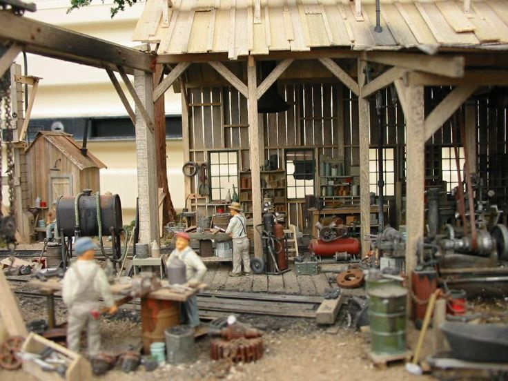 """Toad Croak Flume & Lumber Company"", 1/48 scale On3. Backwood's logging engine shed by Steve Pettit."
