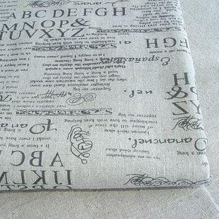"""62"""" 1 meter long ZAKKA linen fabric English newspaper linen cotton fabric 155*100cm  ML003"""