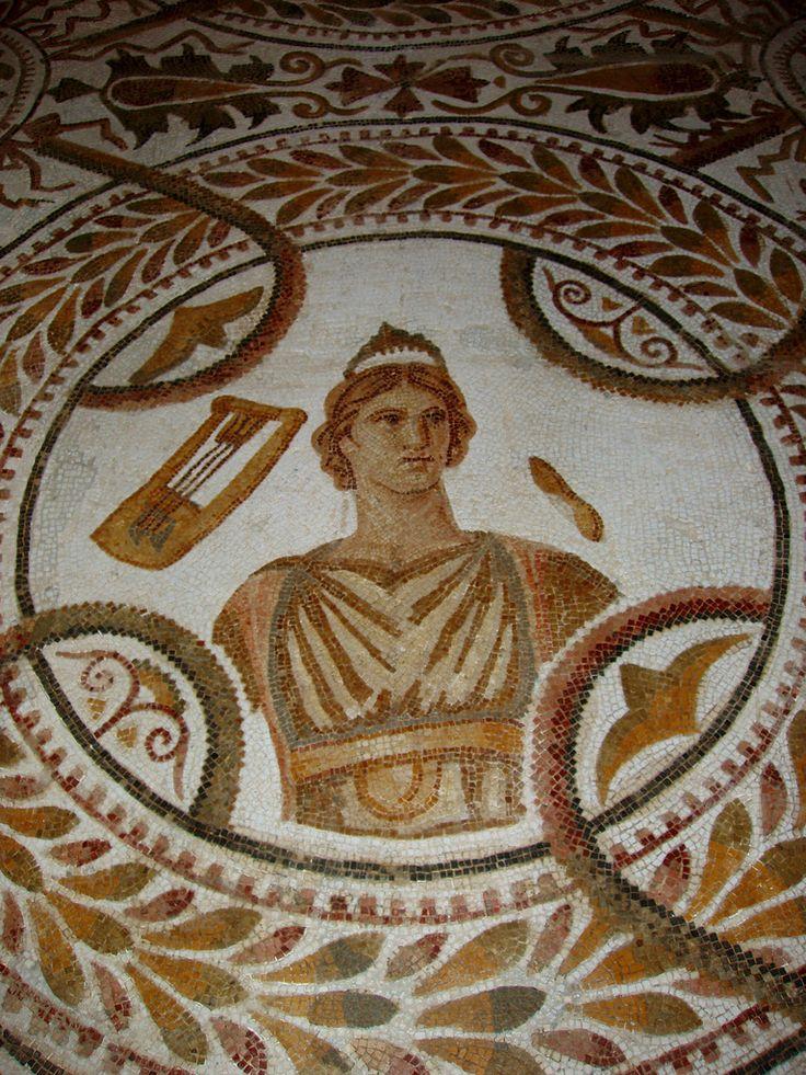 An Ancient Roman Mosaic In El Jem Museum In Tunisia -1954