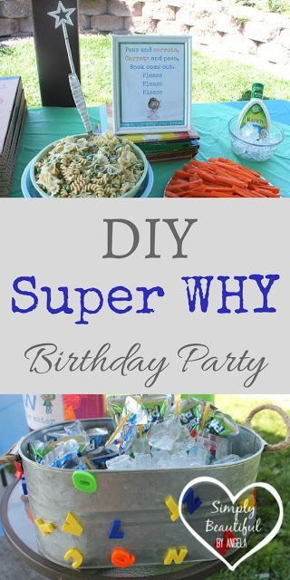 Simply Beautiful By Angela: DIY Super Why Birthday Party