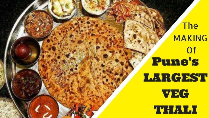 PUNE'S LARGEST VEG THALI | MAKING OF AMRITSARI THALI | PUNJAB CANTEEN | ...