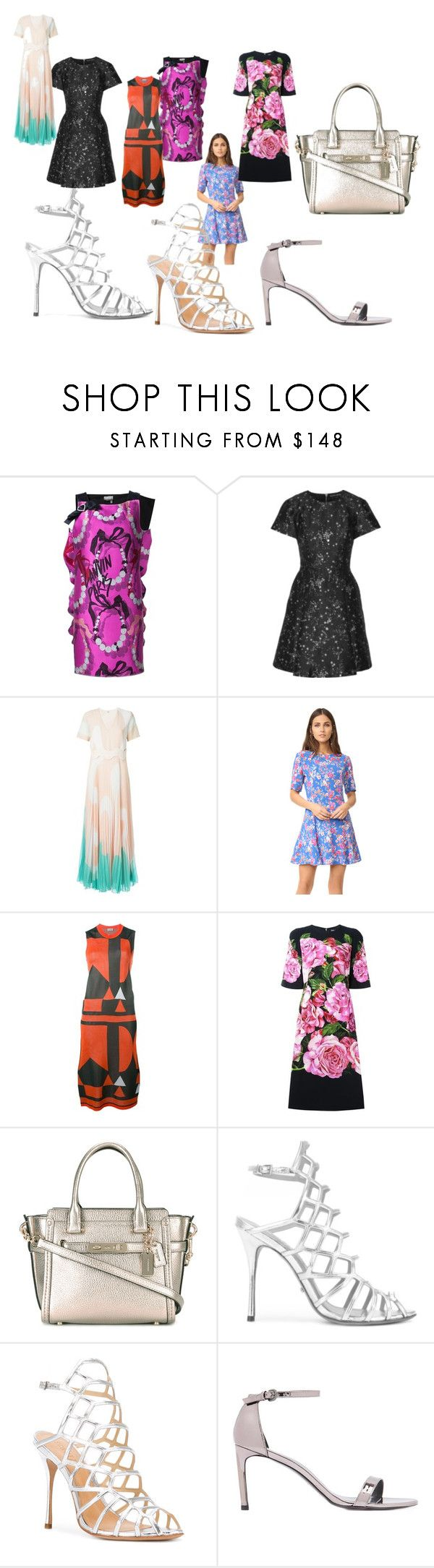 """best sale offer to you"" by denisee-denisee ❤ liked on Polyvore featuring Lanvin, Markus Lupfer, Issa, Tularosa, Arthur Arbesser, Dolce&Gabbana, Coach, Schutz, Stuart Weitzman and vintage"