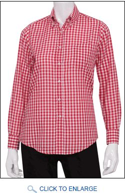 Gingham is one of the hottest new styles for waiters and waitresses! This great blouse is one of our hottest sellers. http://www.sharperuniforms.com/ladies-server-gingham-blouses.html
