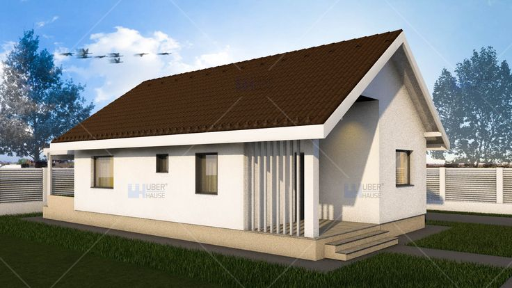 Proiect casa Parter 62 m2 - Elysium. Mai multe detalii gasiti aici: https://www.uberhause.ro/proiect-casa-parter-62-m2-elysium