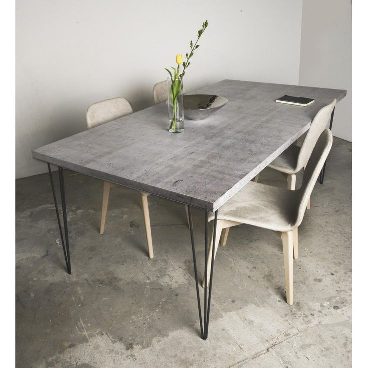 die besten 25 betontisch ideen auf pinterest concrete table top betonm bel und tischdekorationen. Black Bedroom Furniture Sets. Home Design Ideas
