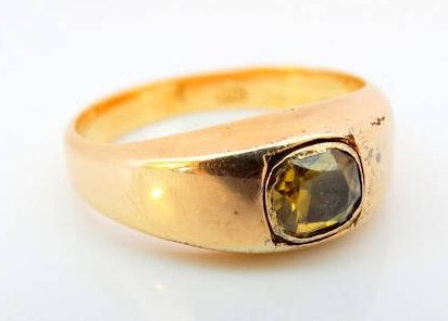 Antique Victorian 1872 Chester Unisex Citrine Signet Dress Ring in 15 ct Yellow Gold FREE POSTAGE Included by GloryBeVintageWares on Etsy