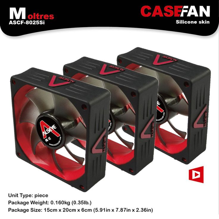 ALSEYE 80mm fan for computer (3pieces) 2000RPM 3pin silicone fan radiator DC 12v high performance CPU cooler cooling fan