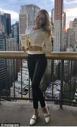 Although she isn't doing a book tour, Ivanka's half-sister Tiffany Trump (pictured) and her sister-in-law Lara Trump both shared photos of them with her memoir on Instagram
