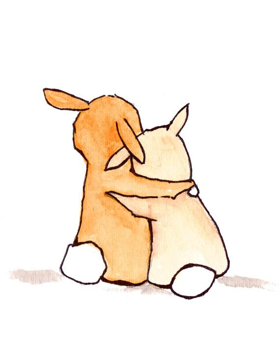 You and Me Bunnies 8x10 archival print, Baby nursery print, childrens art print, kids room decor, kids wall art, child decor, baby art via Etsy