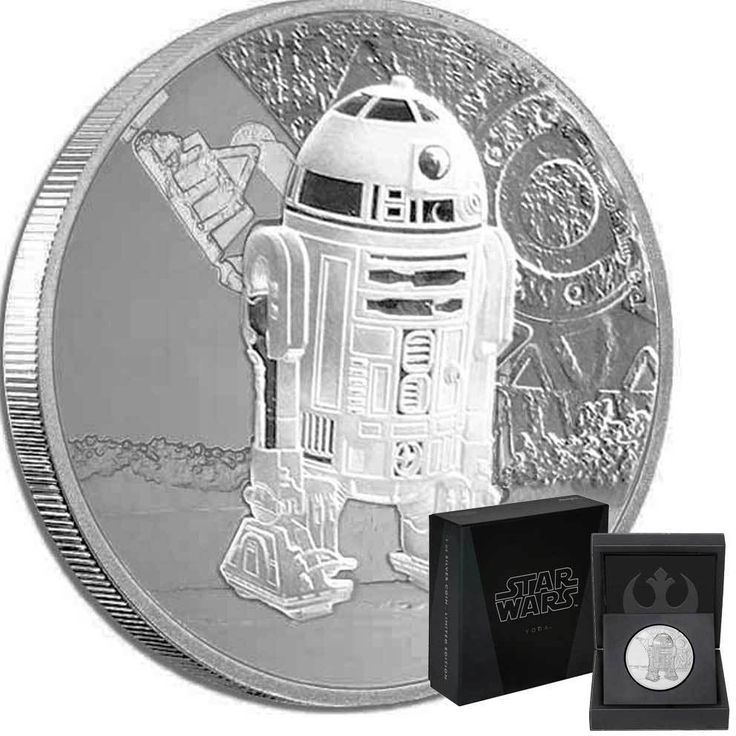2016 STAR WARS CLASSIC: R2-D2 1oz PROOF FINE SILVER COIN