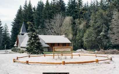 A beautiful stone chapel, nestled among the pine forest in Villa La Angostura. It is a local landmark.  #Argentina #travel #Nelmitravel #architecture #VillaLaAngostura #church