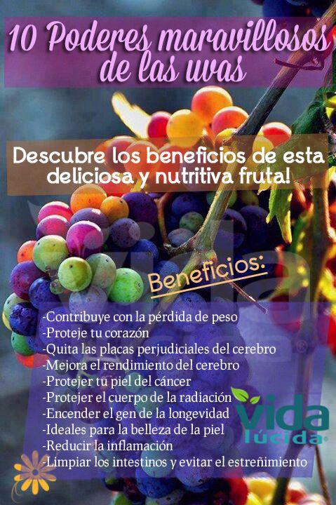 10 poderes maravillosos de las uvas: Ver más información: http://www.unavidalucida.com.ar/2012/07/10-poderes-milagrosos-de-las-uvas.html