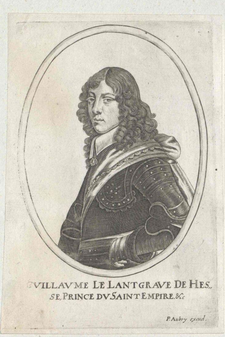 Wilhelm VI, Landgraf von Hessen-Kassel (born 1629, acceded 1637, died 1663), engraving (1652), by Peter Aubry [II] (1596-1666).