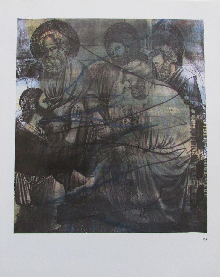 Arnulf Rainer DIE FUßWASCHUNG Übermalung Kunstdruck