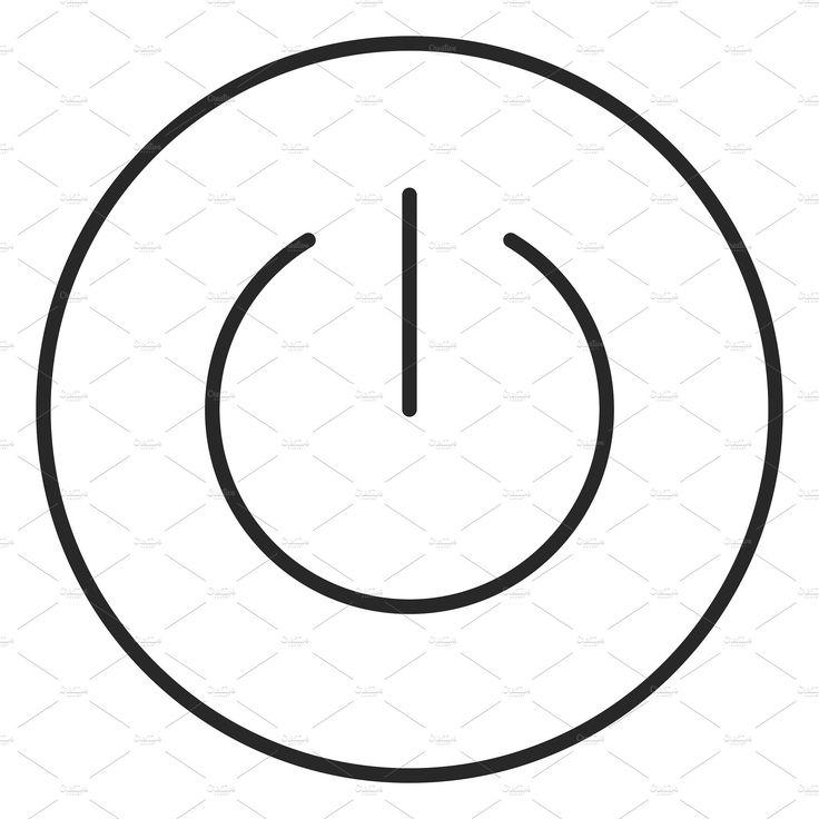 Power button stroke icon, logo button, power, icon