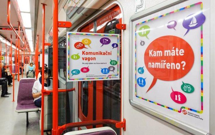 Вагон для знакомства и общения в пражском метро